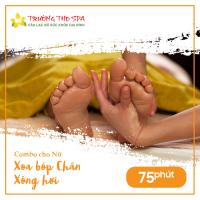 Combo 2 cho Nữ - Xoa bóp Chân 75 Phút + Xông Hơi