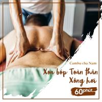 Combo 1 cho Nam - Xoa bóp Toàn thân 60 Phút + Xông Hơi